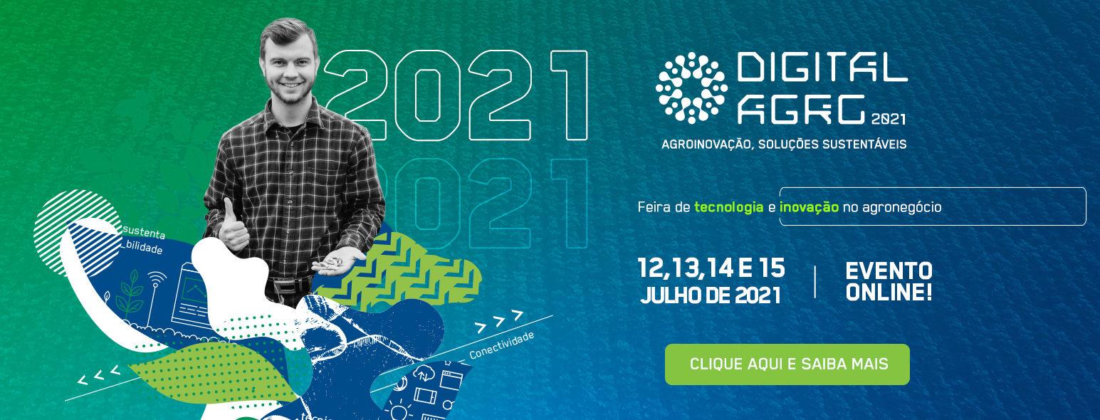 Digital Agro virtual acontece entre os dias 12 e 15 de julho em plataforma inovadora
